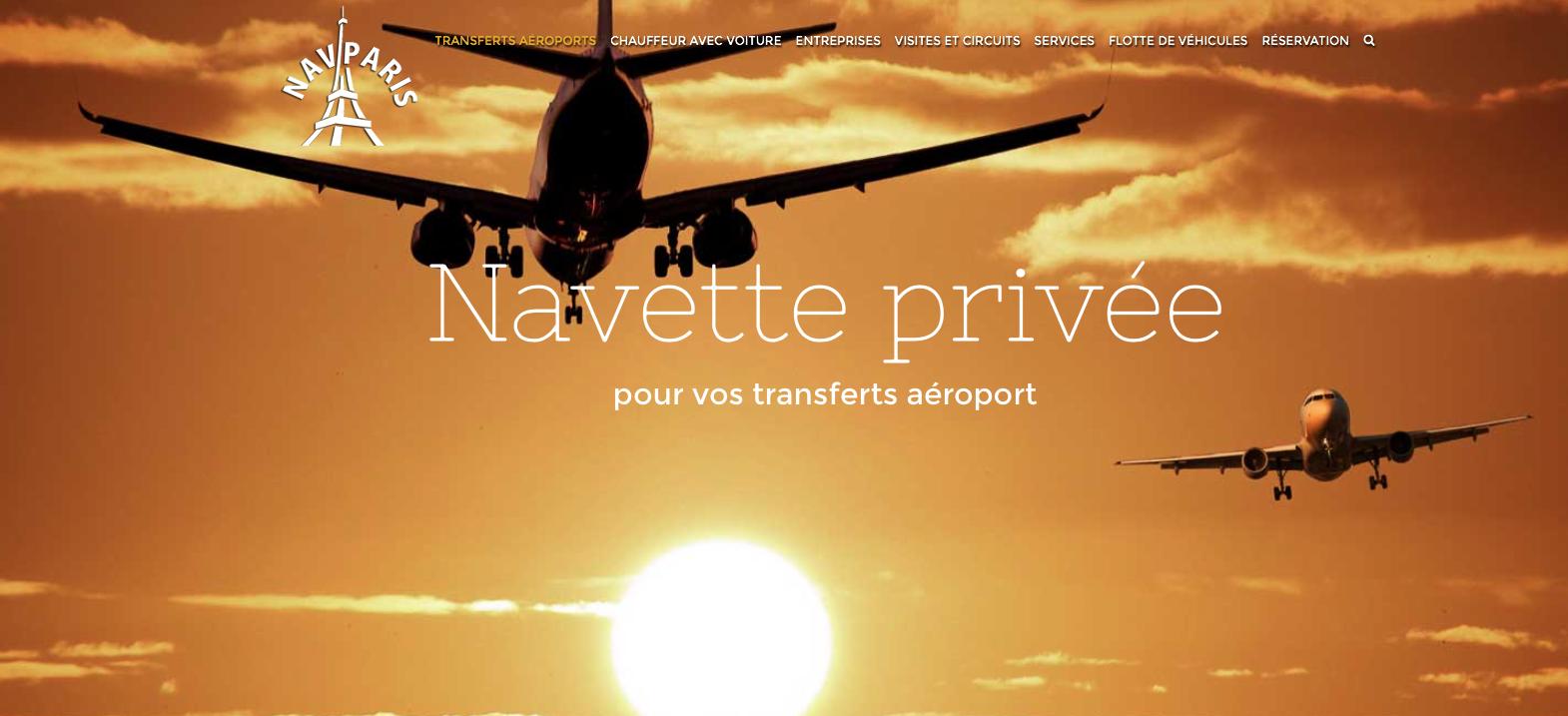 Navparisホームページを当社が翻訳