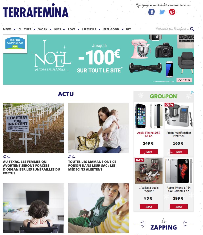 アクティブな女性向けウェブマガジンホームページ、アメリカ英語翻訳